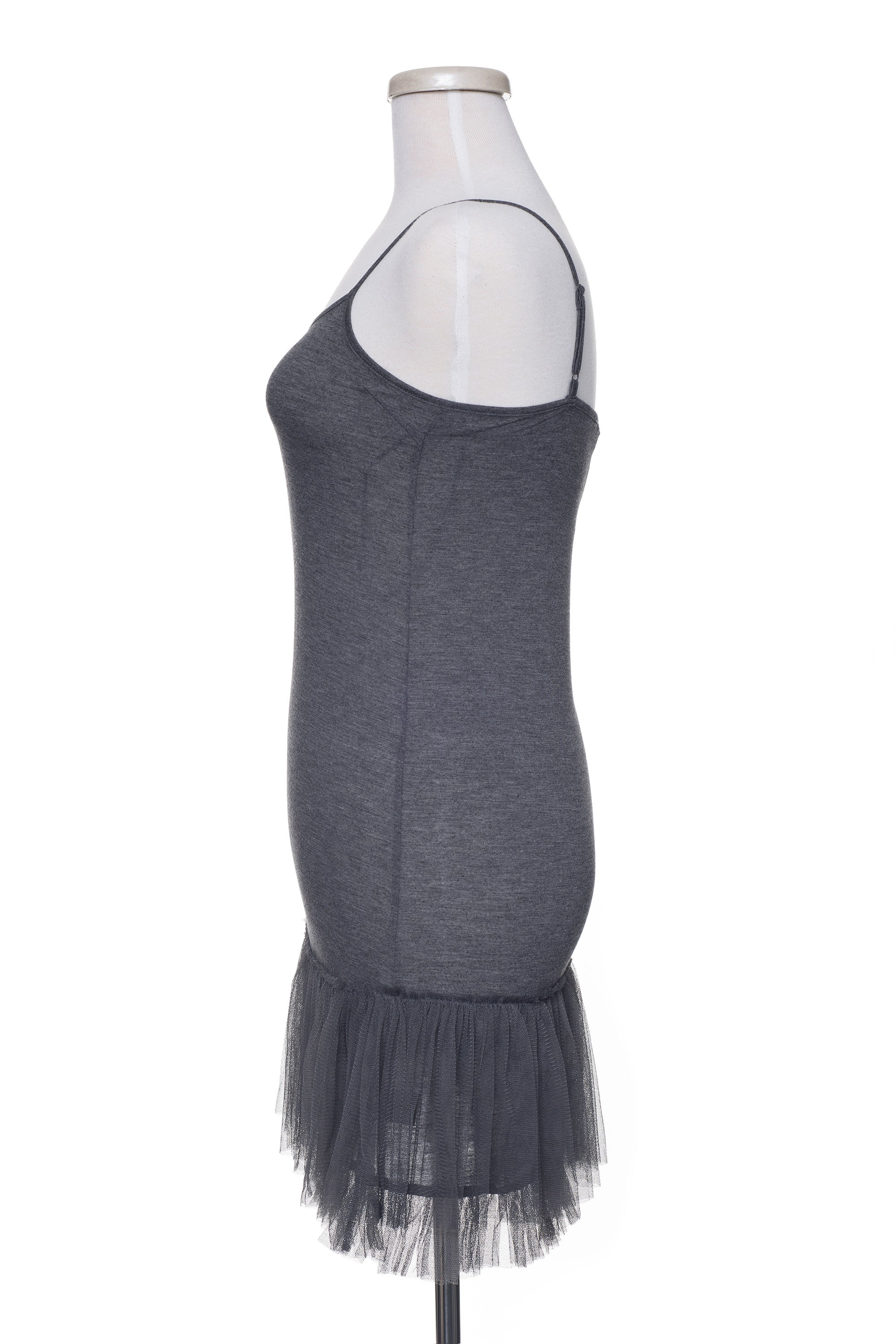 Type 2 Tulle Extender Slip in Charcoal