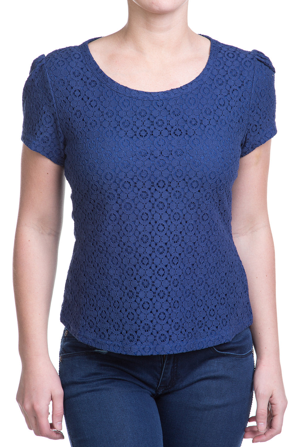 Type 1 Laced With Your Presence Top In Navy