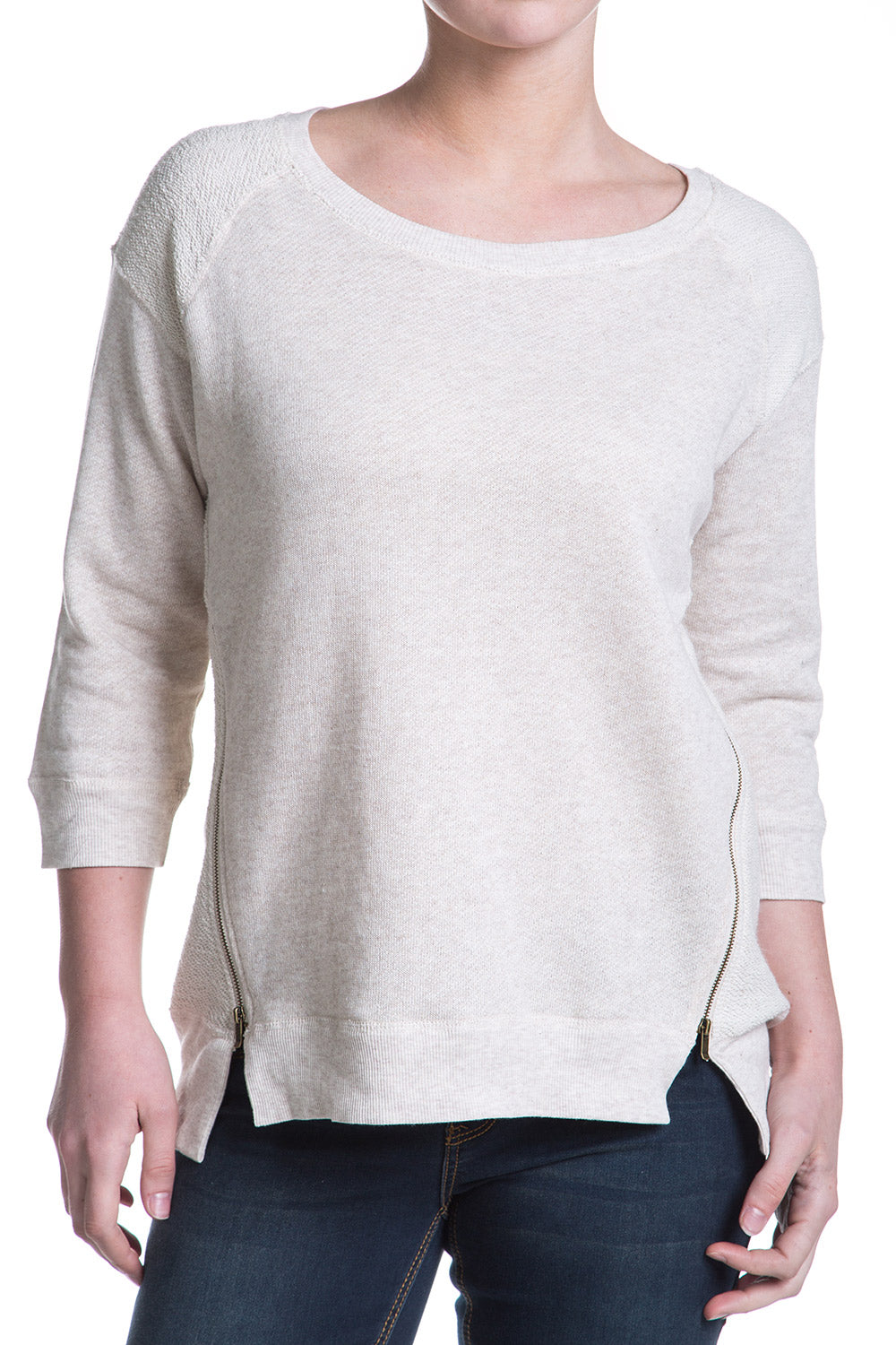 Type 3 Zipper Contrast Top