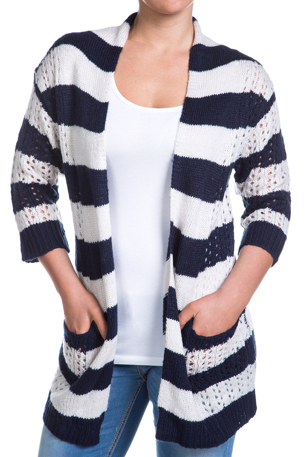 Type 1 White Stripes Cardigan