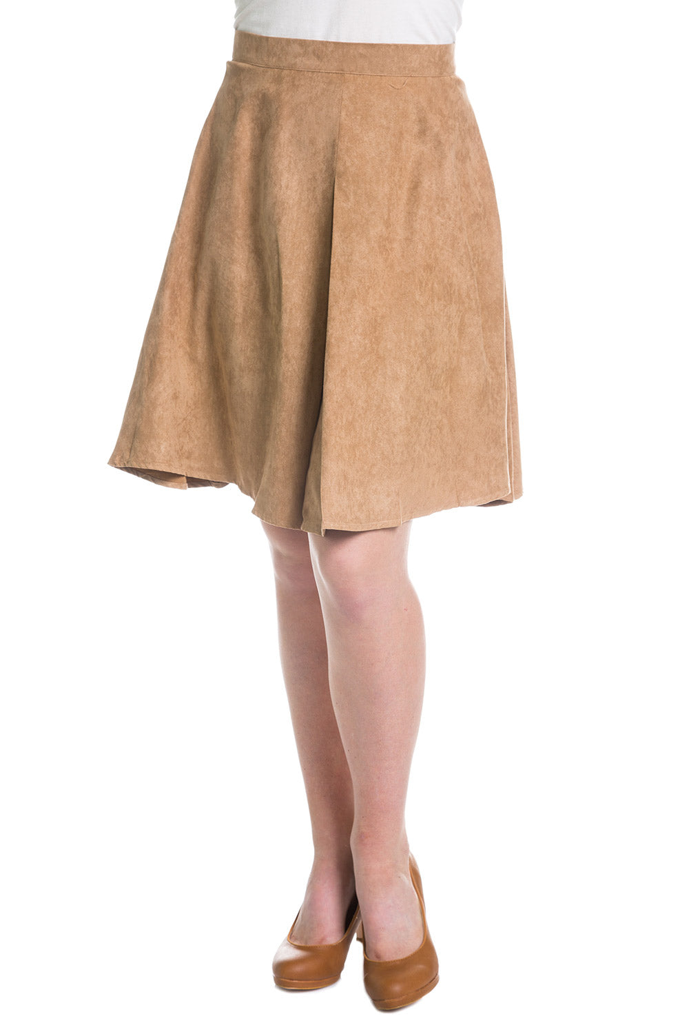 Type 3 Brass Suede Skirt