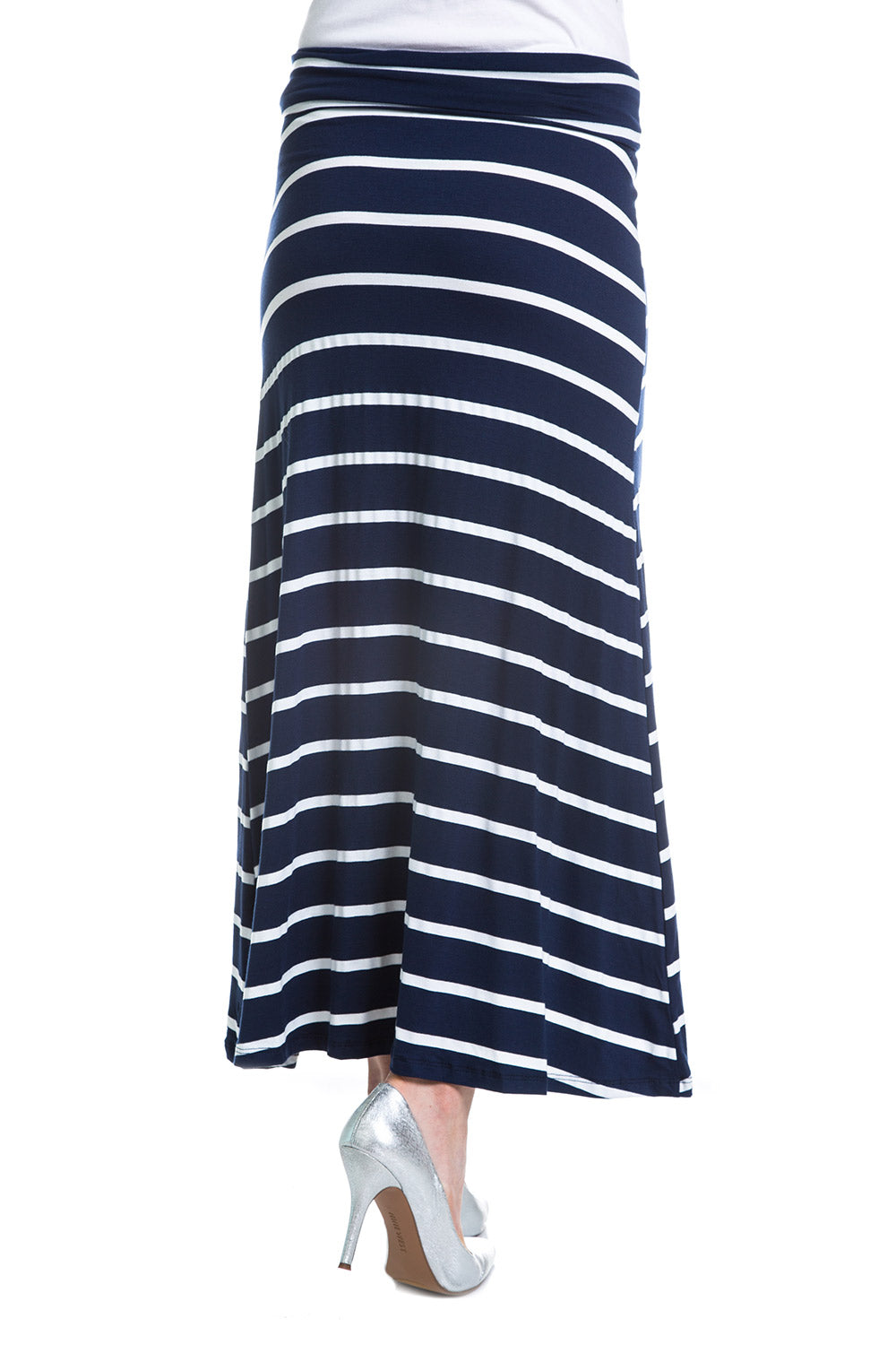 Type 4 Navy Stripes Maxi Skirt