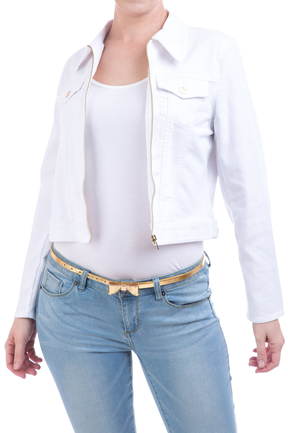 Type 1 Classic Denim Jacket In White