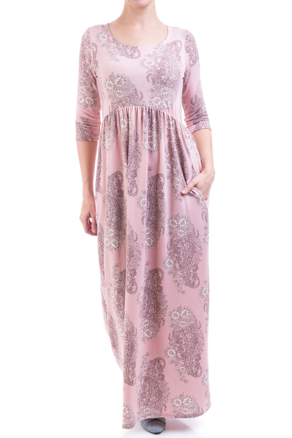 Type 2 Bennet Sisters Maxi Dress In Pink