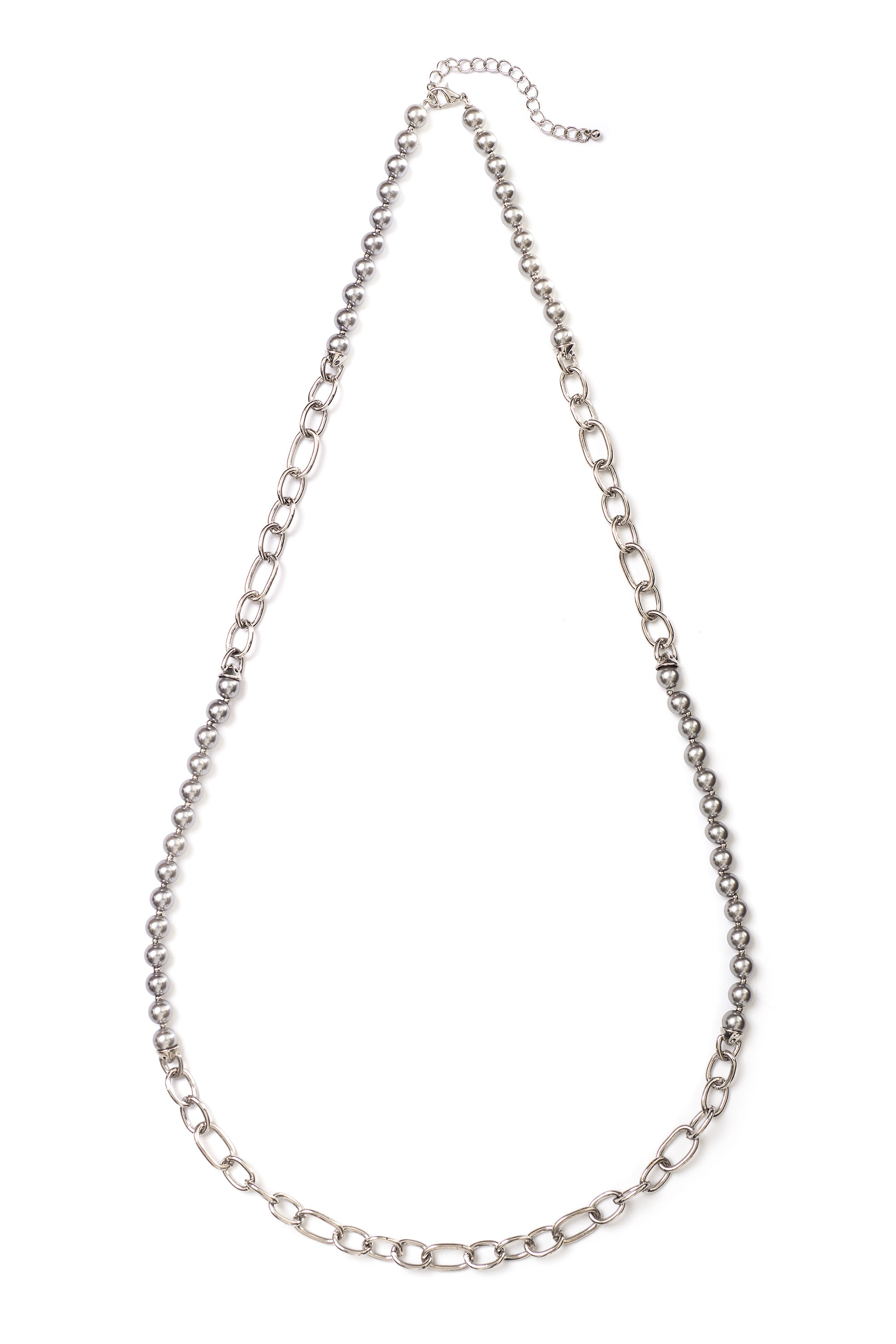Type 2 Smoky Silver Necklace