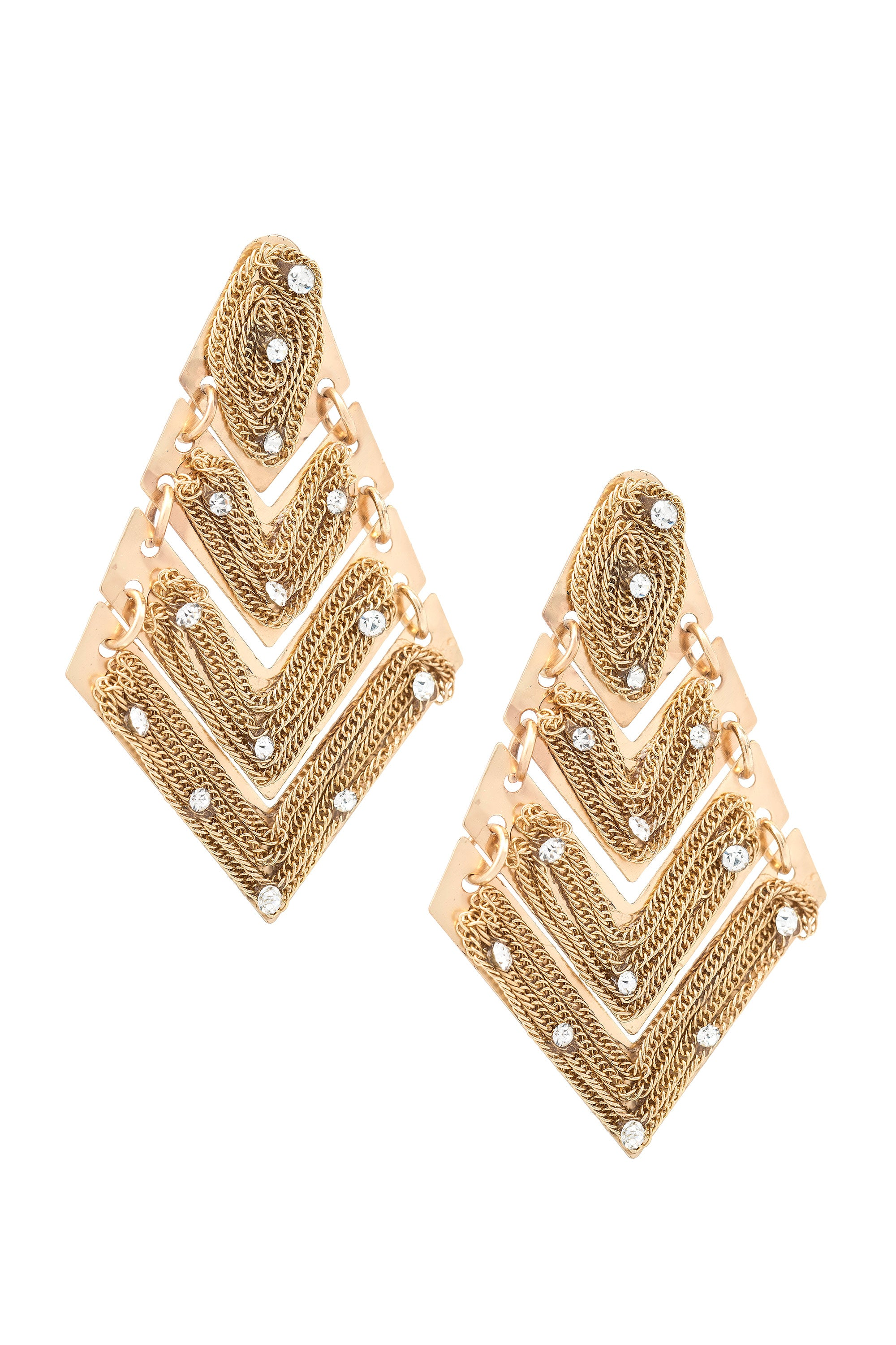 Type 3 Rich Chevron Earrings