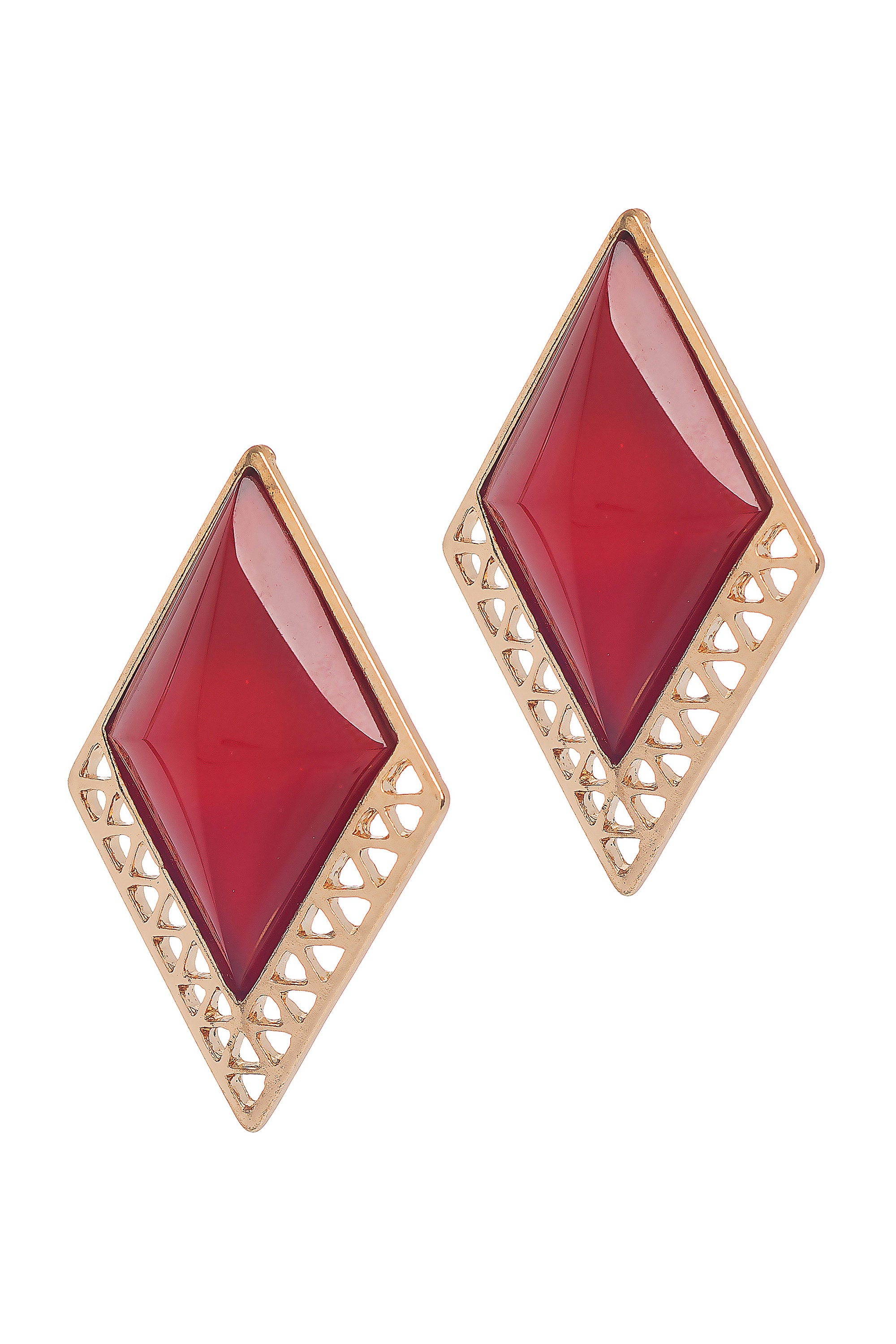 Type 3 Ruby Accent Earrings