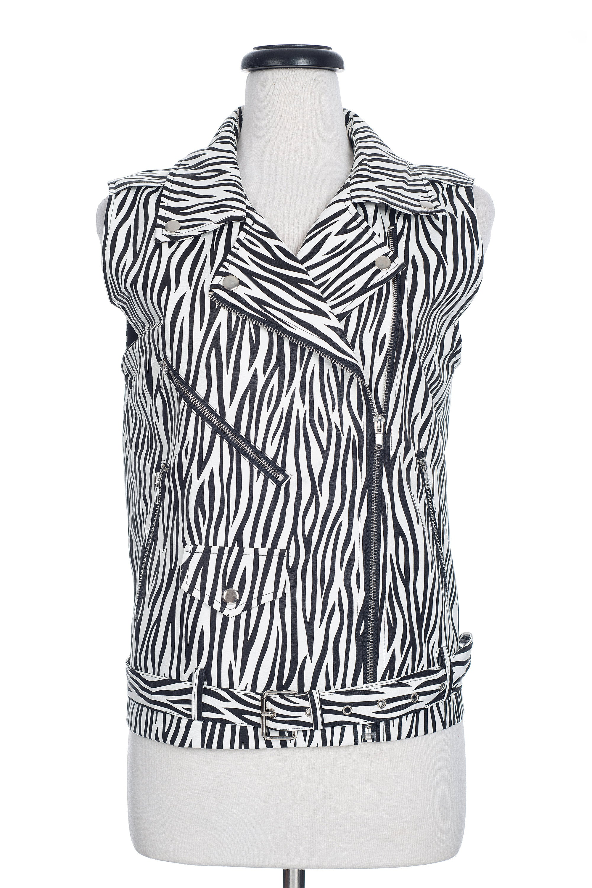 Type 4 Zippered Zebra Vest