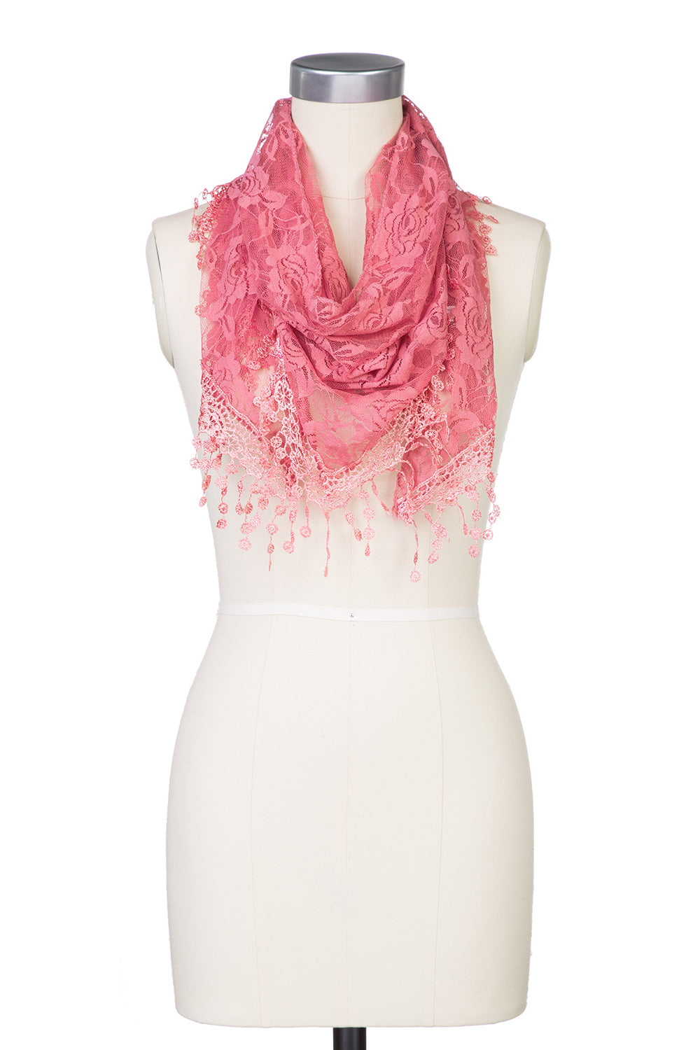 Type 2 Vintage Lace Scarf in Rose