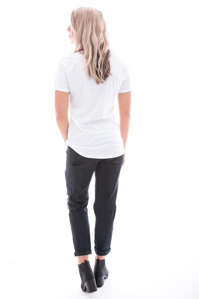 Womans white Tee