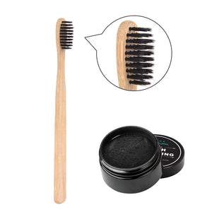 Activated Bamboo Charcoal Powder and Tootbrush - Skinue