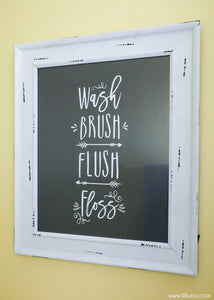 Bathroom Print - 5 Colors