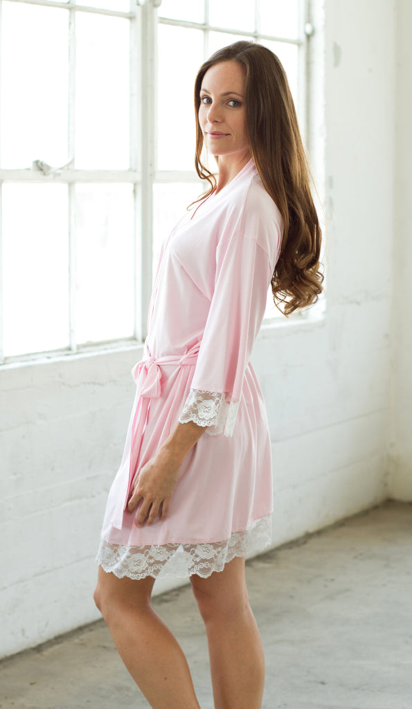 Jersey Robe-Pink