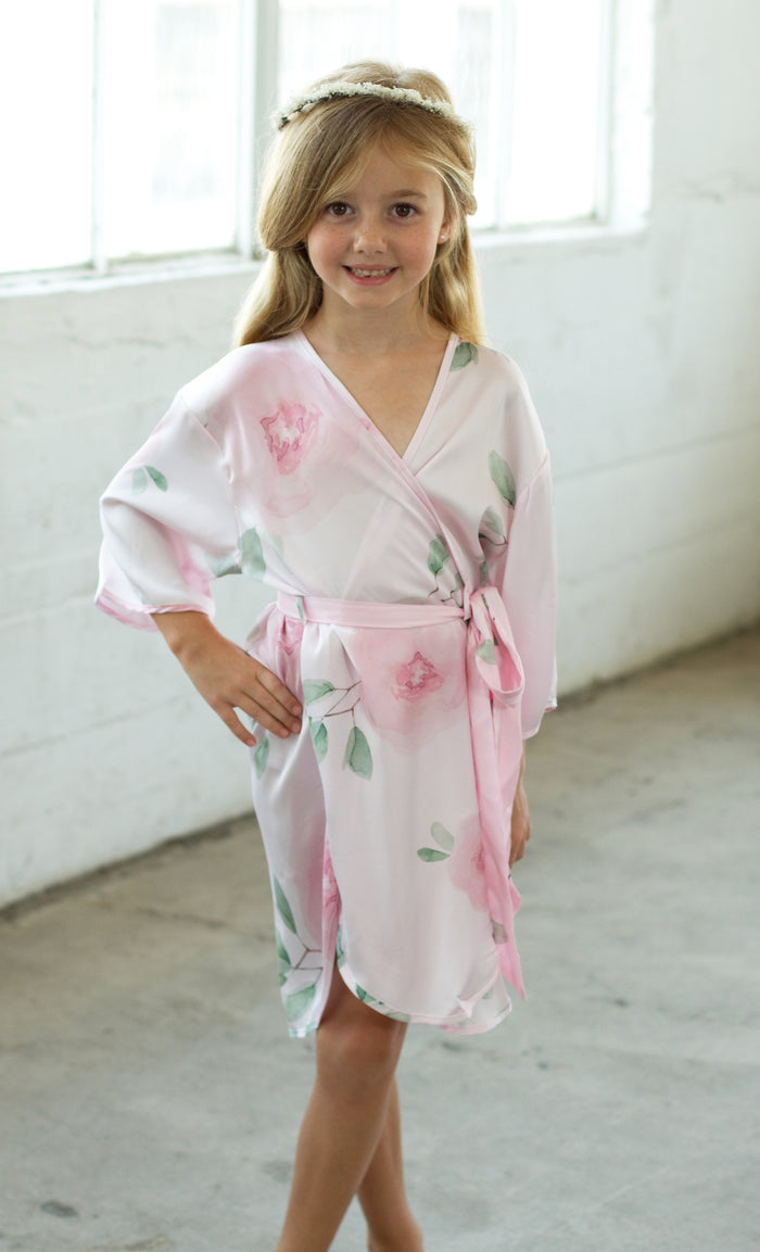 Sofia Flower Girl Robe-Pink