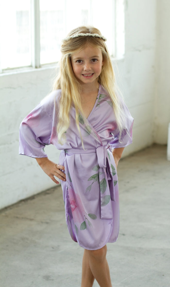 Sofia Flower Girl Robe-Lavender