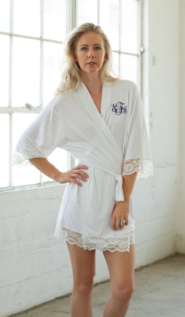 Personalized Jersey Robe-Navy