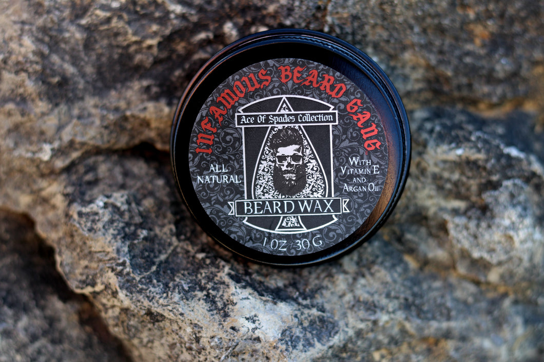 Ace of Spades ♠ Beard/Mustache Wax 1 oz - Infamous Beard Gang