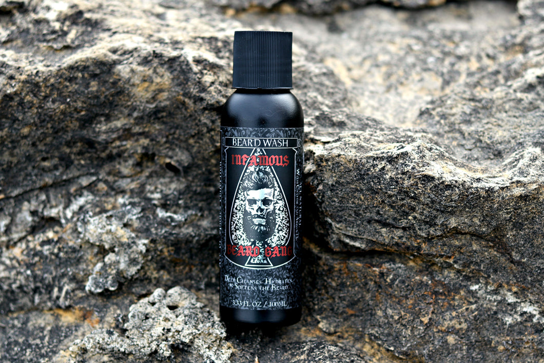 Ace of Spades ♠ Beard Wash 3.33 fl oz - Infamous Beard Gang