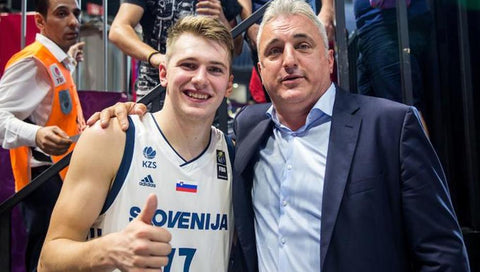 Luka Doncic and his father