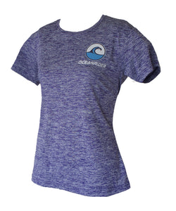Women's Ash Kooldry Performance Short Sleeve Purple