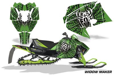 Widow Maker - GREEN background BLACK design