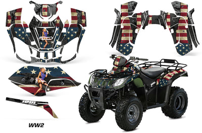 Arctic Cat Utility 250 ATV Quad Graphic Kit 2006-2009