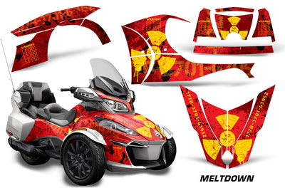 Meltdown - RED background YELLOW design