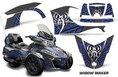 Widow Maker - BLACK background BLUE design