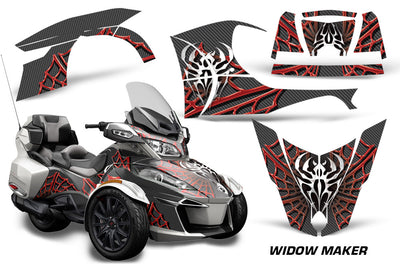 Widow Maker in Black Background Red Design