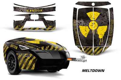 Meltdown - BLACK background YELLOW design