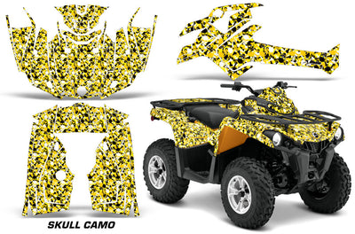 Skull Camo - YELLOW design