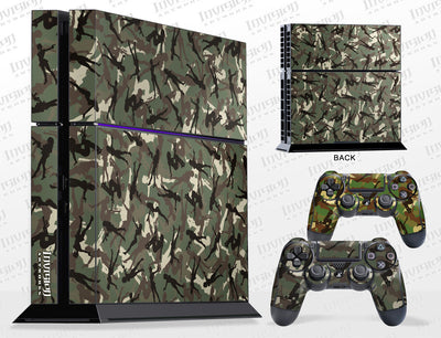 Sony PlayStation 4 Graphics - Console Skin with 2 Controller Skins - Gun Girl Camo