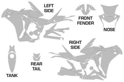 Honda CBR 250R Sport Bike Graphic Kit (2010 -2013)
