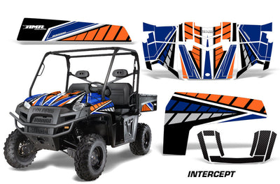 Intercept - BLUE Background/ ORANGE design