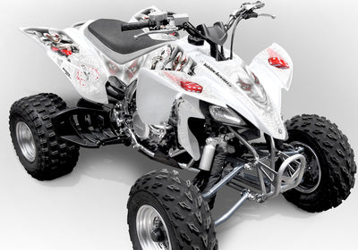 YFZ 450 Joker Graphics - White Background, Black & White Joker