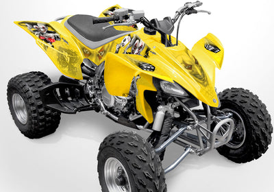YFZ 450 Joker Graphics - Yellow Background, Black & White Joker