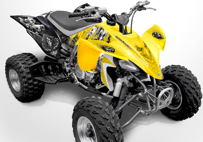 YFZ 450 Joker Graphics - Yellow & Black Background, Black & White Joker