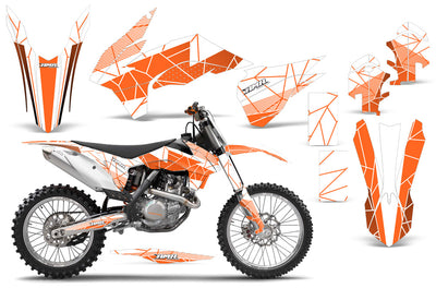 Geometrik - WHITE background ORANGE design
