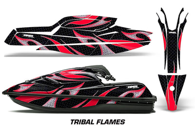 Tribal Flame - BLACK background RED design