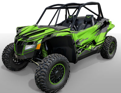 Racer X - Bright Green background / Black Design