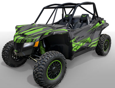 Racer X - Gray background / Bright Green design