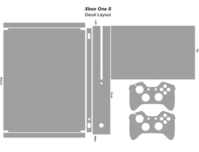 Xbox One S Graphics - Console Skin with 2 Controller Skins - Adrenaline Junkie