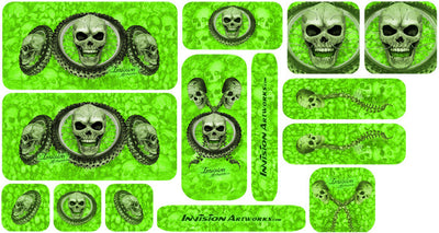 Bright Green Design Color Universal Sticker Sets - ATV Graphics