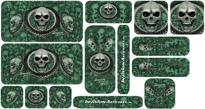 Dark Green Design Color Universal Sticker Sets - ATV Graphics