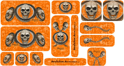Orange Design Color Universal Sticker Sets - ATV Graphics