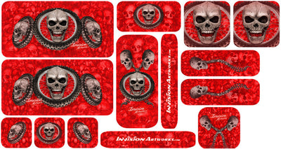 Red Design Color Universal Sticker Sets - ATV Graphics