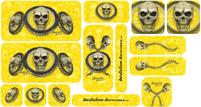 Yellow Design Color Universal Sticker Sets - ATV Graphics