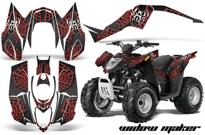 Widow Maker - Black Background Red Design