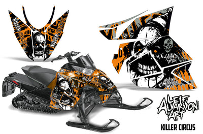 Killer Circus - Silver Background Orange Design