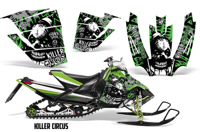 Killer Circus - Silver Background Green Design